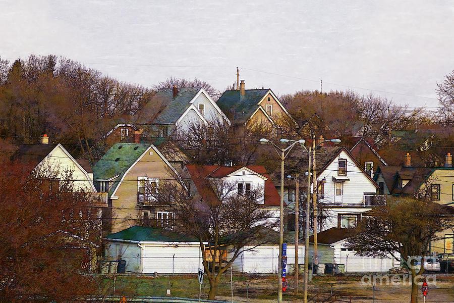 Bay View Digital Art - Bay View Neighborhood by David Blank