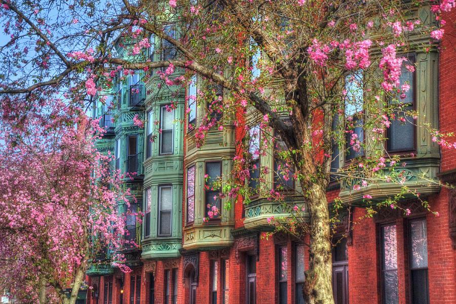 Boston Photograph - Bay Village Row Houses - Boston by Joann Vitali