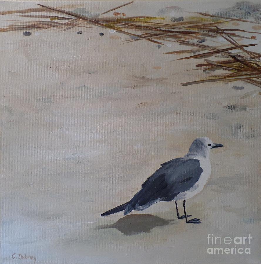 Gull Painting - Bay Watch by Carla Dabney