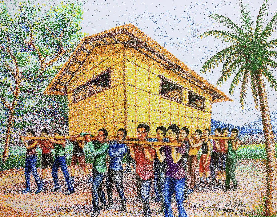 Bayanihan 2 Painting by Cyril Maza