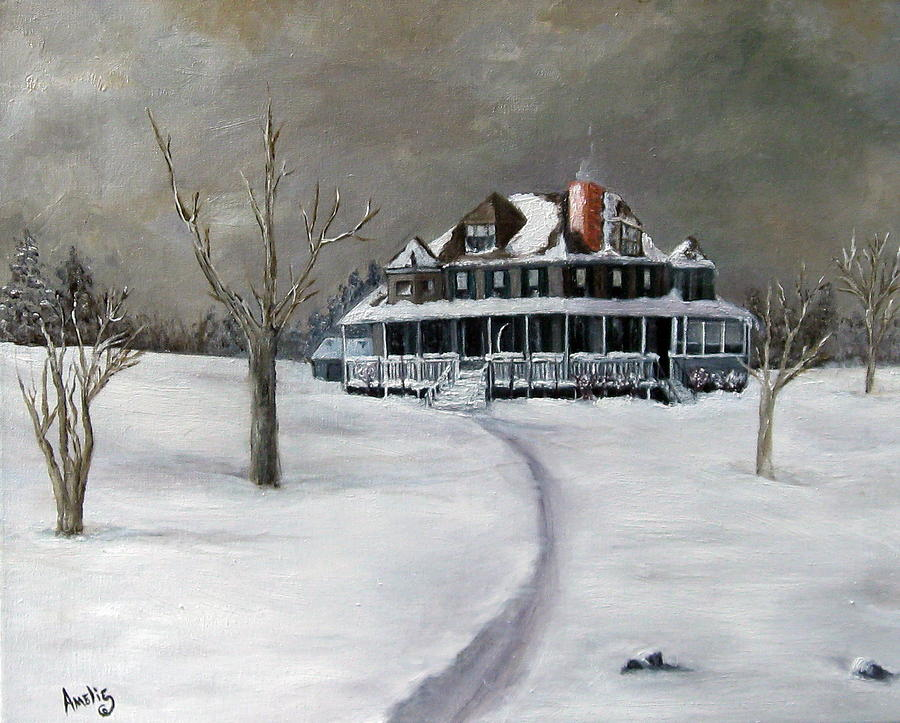 Landscape Painting - Bayberry Cottage by Amelie Gates