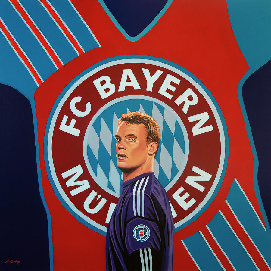 Bayern Munich Painting - Bayern Munchen Painting by Paul Meijering
