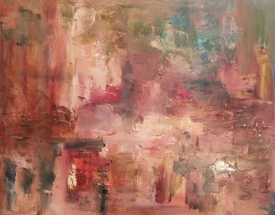 Abstract Painting - Bayfront by Beverly Smith