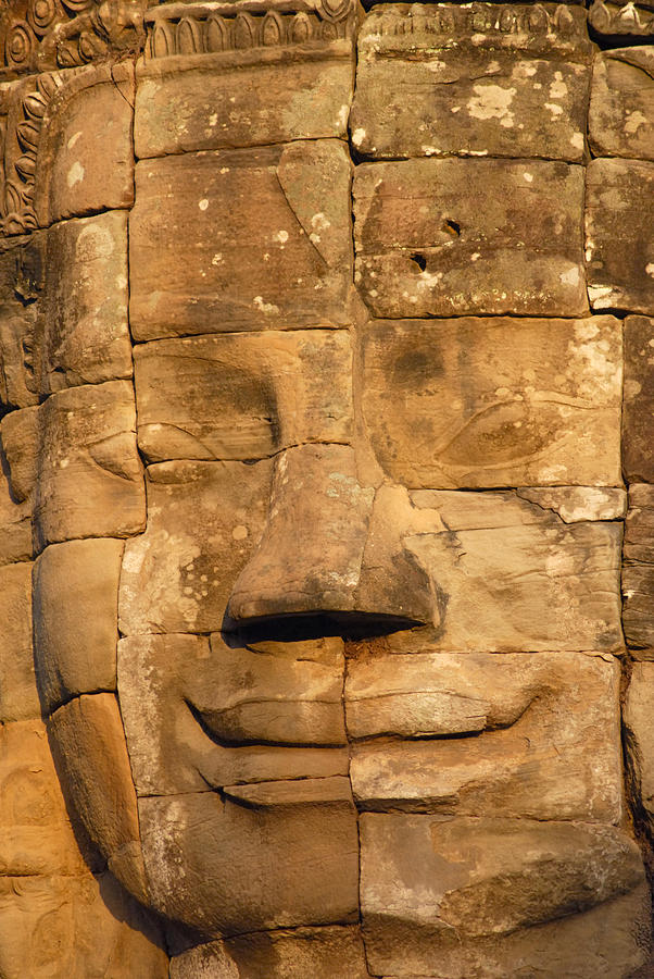 Cambodia Photograph - Bayon Temple  by Liz Pinchen