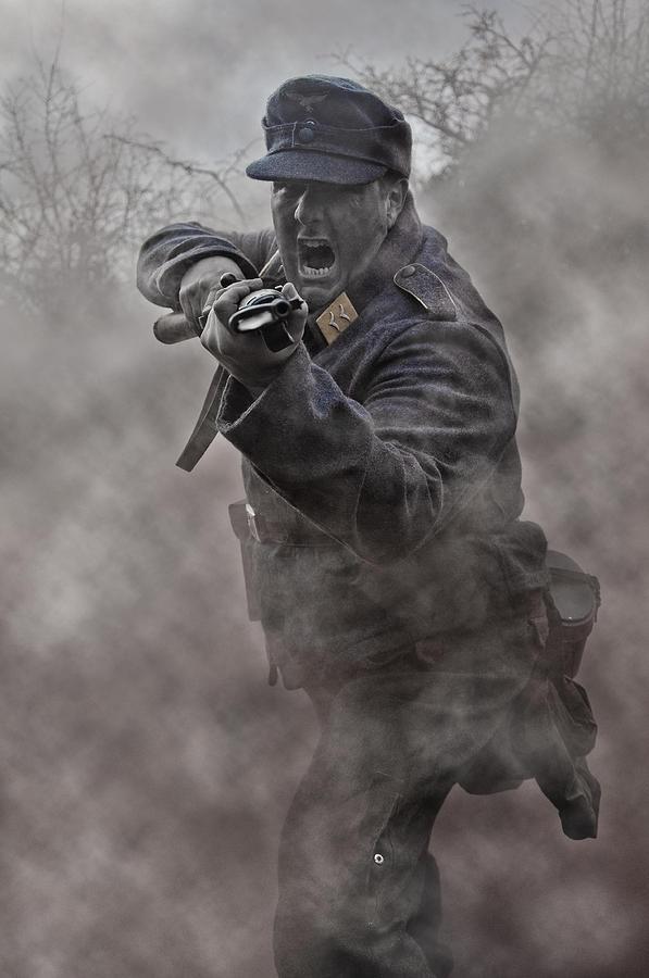 Soldier Photograph - Bayonet Warrior by Mark H Roberts