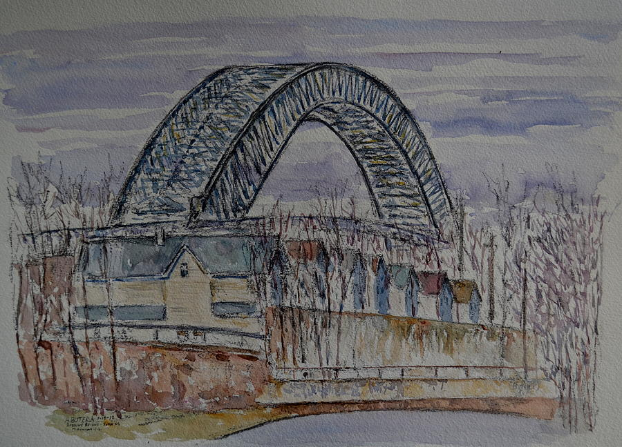 Bayonne Bridge Painting - Bayonne Bridge by Anthony Butera