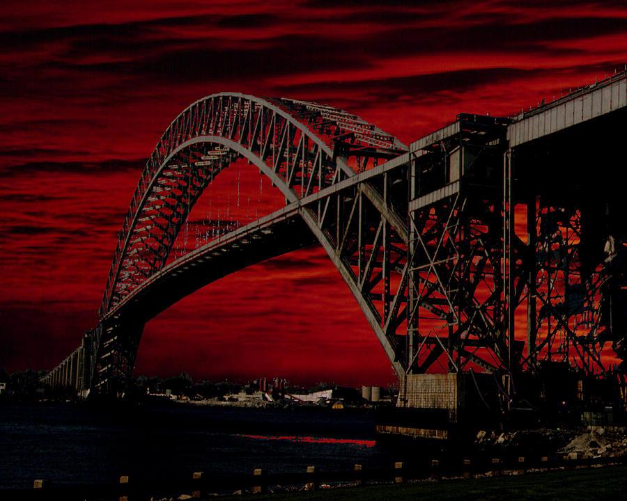 Bayonne  Bridge Photograph by Barry Penchansky
