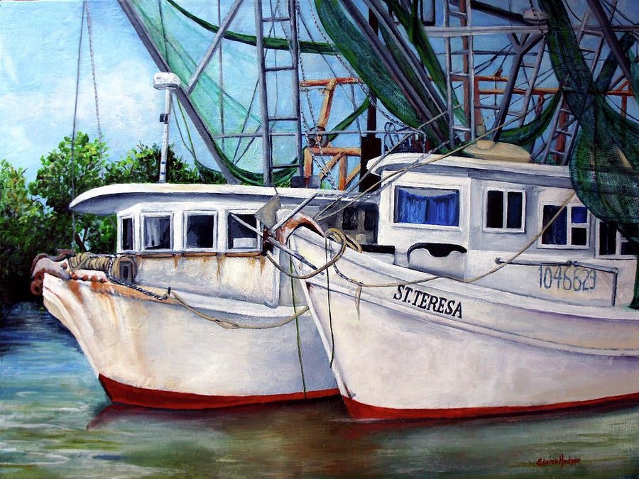 Bayou Boats Painting