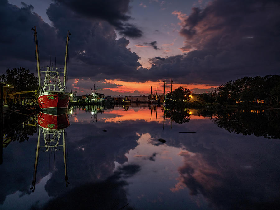 Bayou Dusk and Reflection by Brad Boland