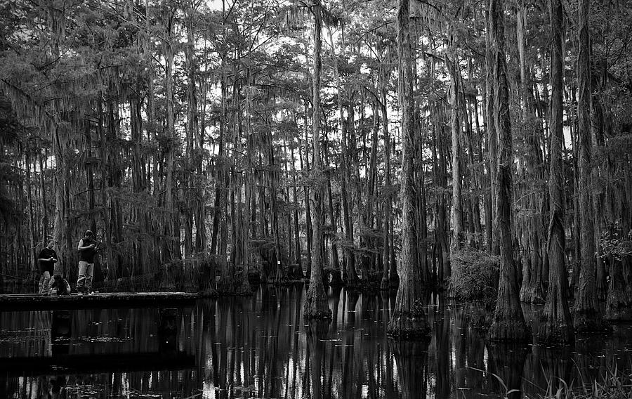 Swamps Photograph - Bayou Family Fishing by Ester McGuire