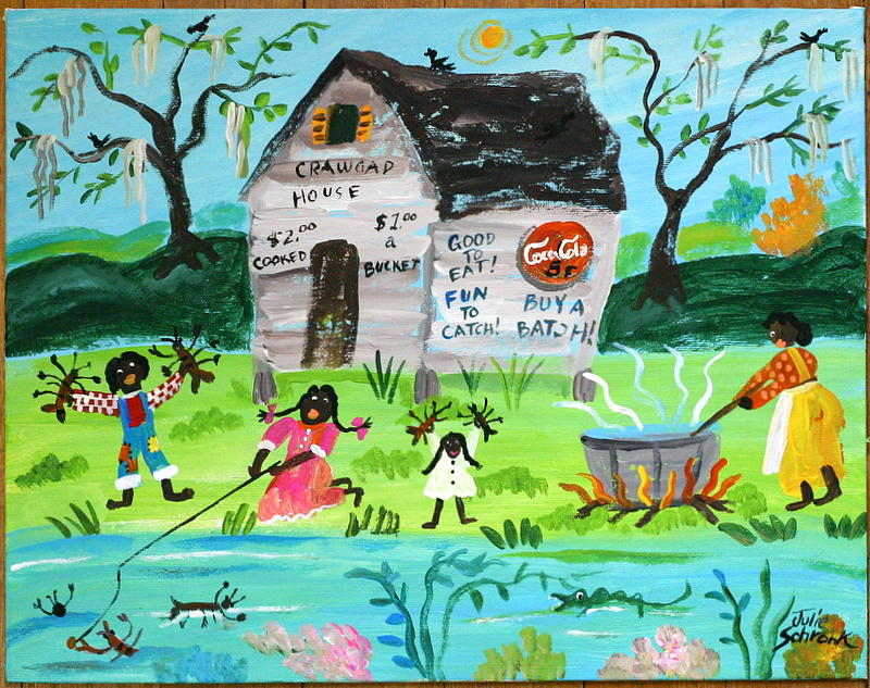Bayou Livin Painting by Julie Schronk