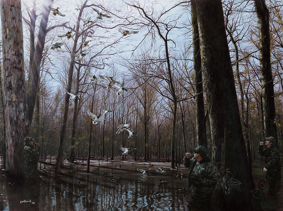Ducks Painting - Bayou Meto Morning by Glenn Pollard