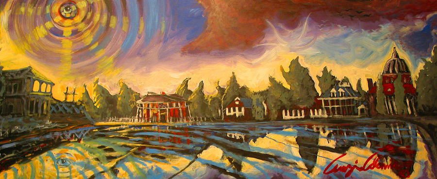 New Orleans Painting - Bayou St John New Orleans by Amzie Adams