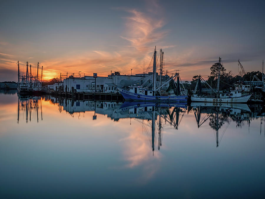 Bayou Sunset and Reflection by Brad Boland