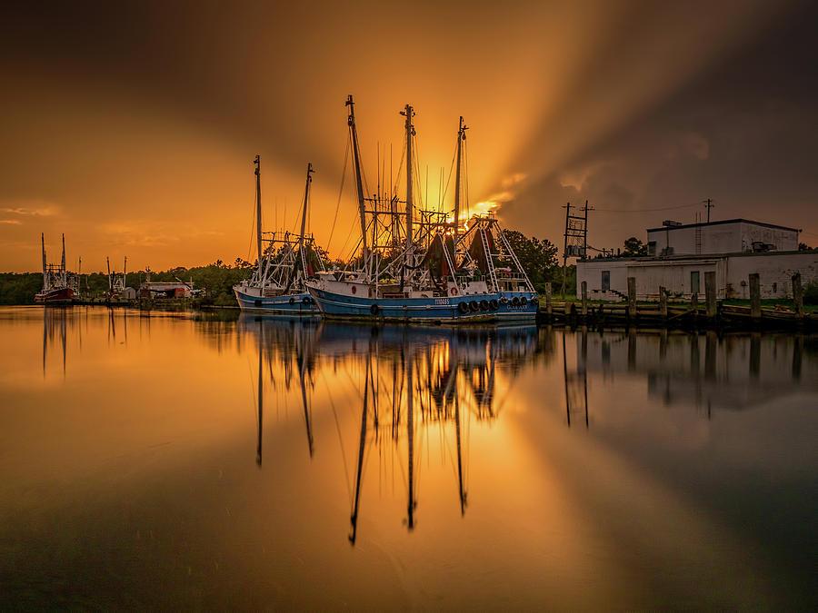 Bayou Sunset Glory by Brad Boland