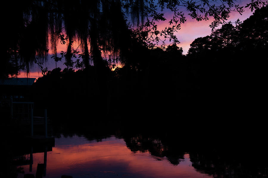 Autumn Photograph - Bayou Sunset by Lana Trussell