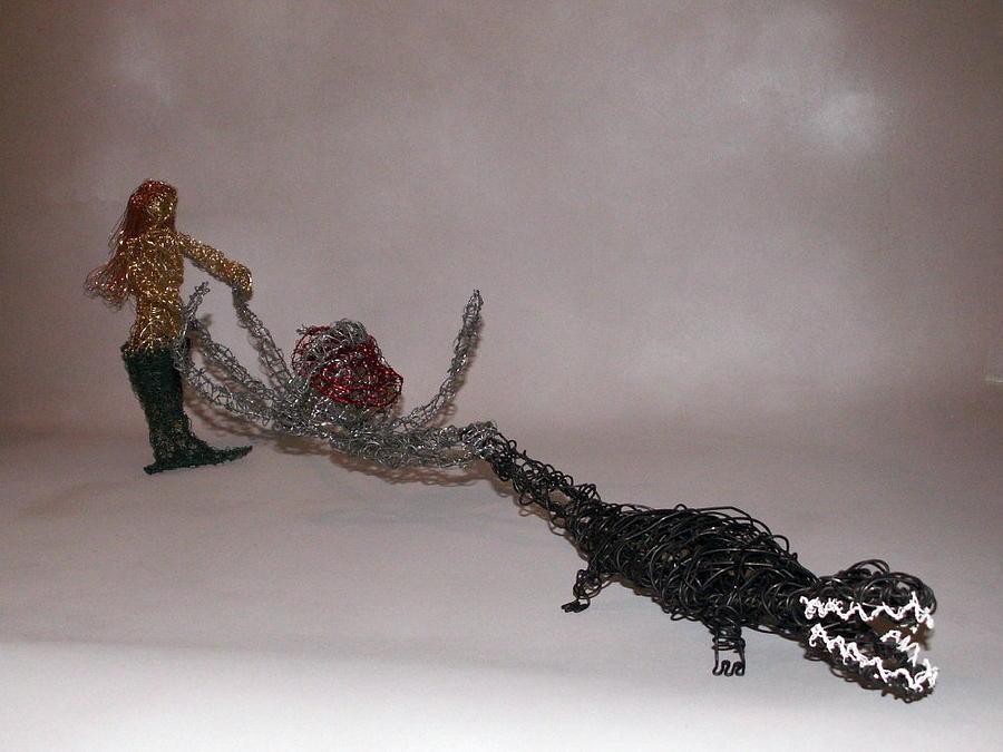 Mermaid Sculpture - Bayou Water Ski Team by Charlene White