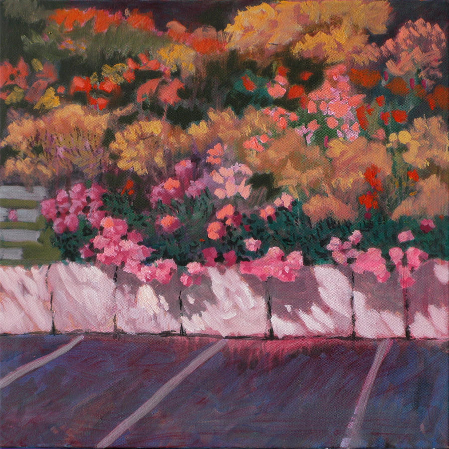 Flowers Painting - Bayside Flowers by Robert Bissett