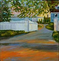 Landscape Painting - Bayview Colony by Glynnis Sorrentino