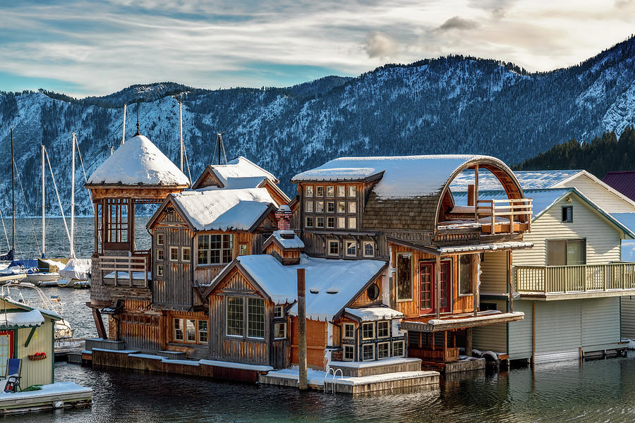 Bayview Houseboat in Winter by Harold Coleman
