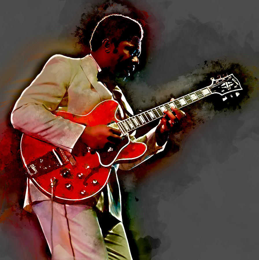 Bb King Mixed Media - Bb King by Marvin Blaine