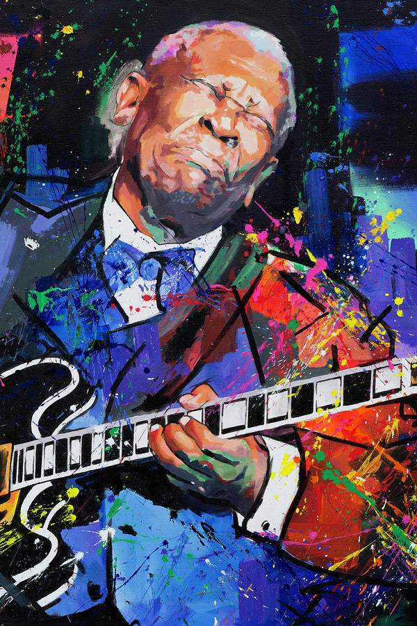 Bb King Portrait Painting By Richard Day