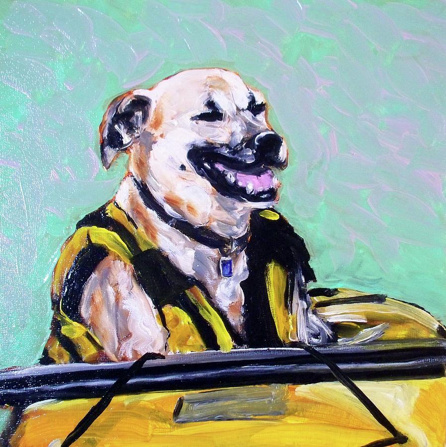 Dog Painting - BB by Sheila Tajima