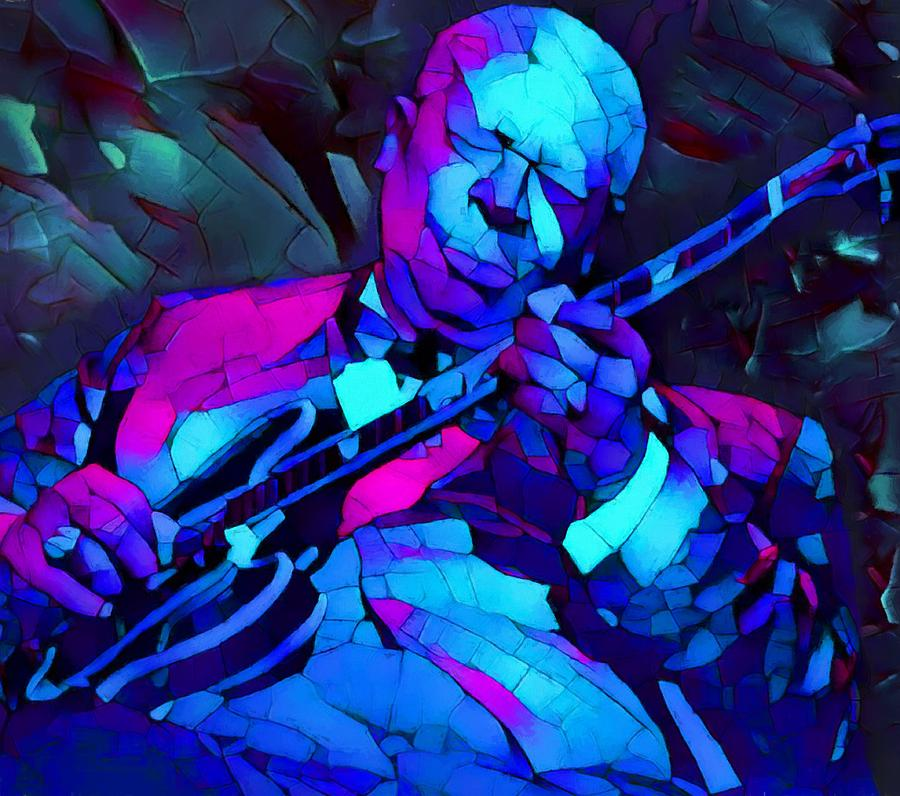 Bb King Painting - Bb Sings The Blues by Dan Sproul