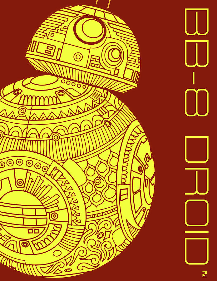 Bb8 Droid - Star Wars Art Mixed Media