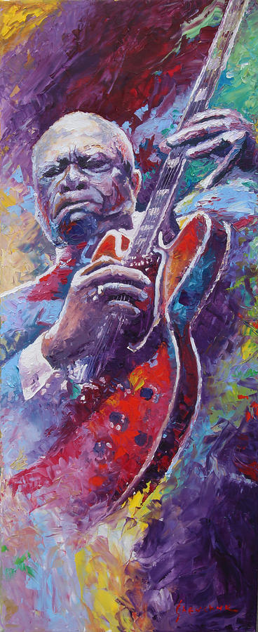 Oil Painting - B.B.King 2 by Yuriy Shevchuk