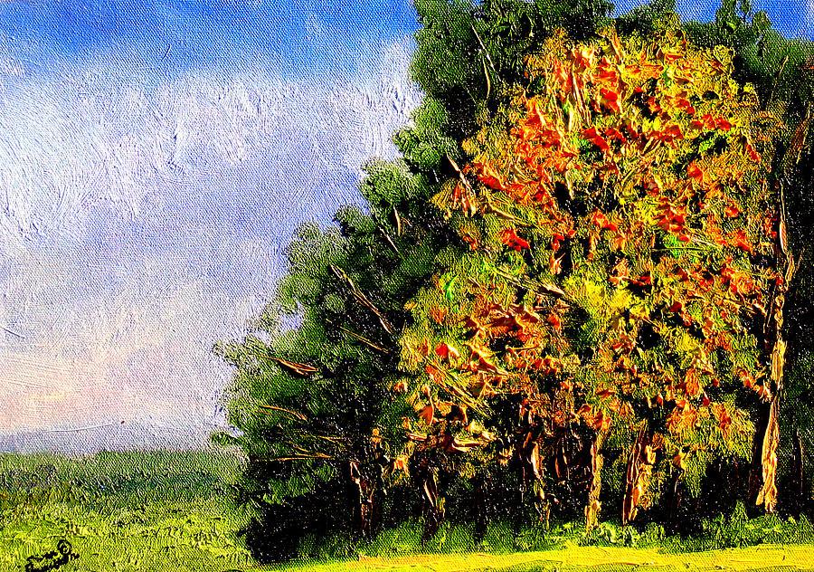 Plein Air Painting - Bc11 by Stan Hamilton