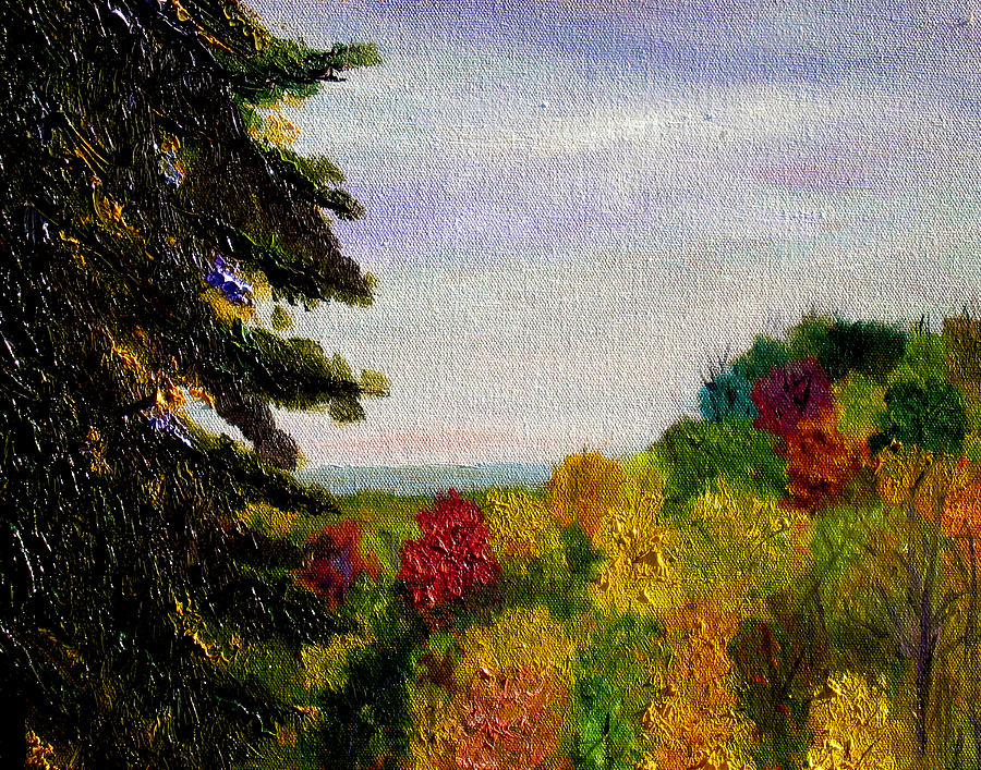 Plein Air Painting - bcsp Outlook by Stan Hamilton