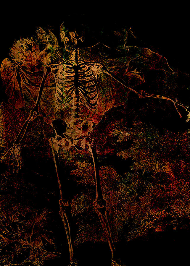 Skeleton Digital Art - Be Afraid Be Very Afraid by Sarah Vernon