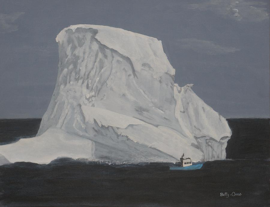 Iceberg Painting - Be Careful by Betty-Anne McDonald