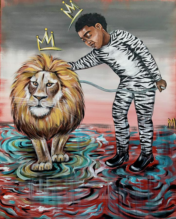 Son Painting - Be Courageous My Son by Artist RiA