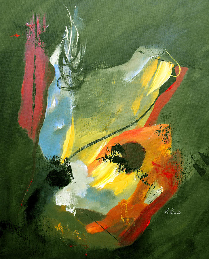 Abstract Painting - Be Faithful by Ruth Palmer