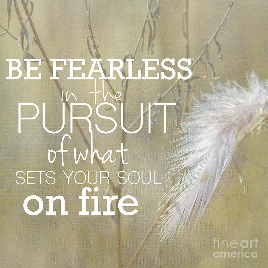 Life Photograph - Be Fearless In The Pursuit by Nikki Vig