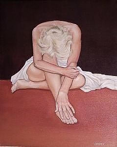 Seated Female Painting - Be Flexible by Irene Corey