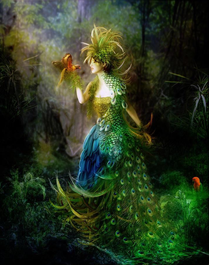 Forest Digital Art - Be Free Little One Be Free by Karen Koski