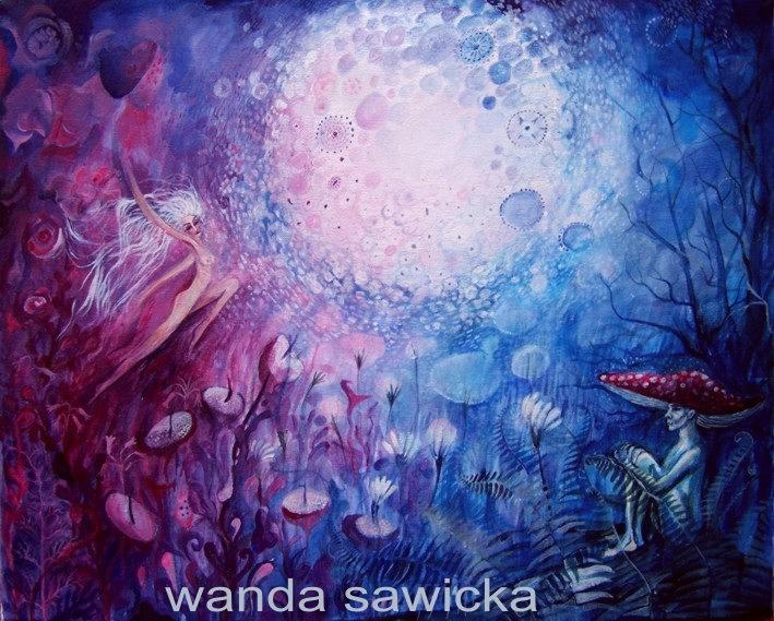 Lanscape Painting - Be Free by Wanda Sawicka