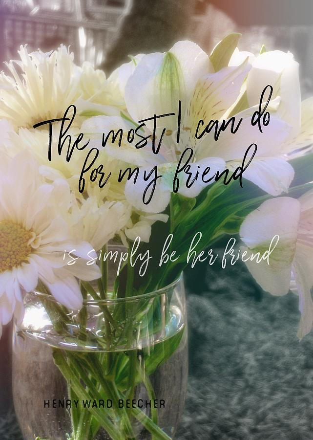 Flower Photograph - Be Gentle Quote by JAMART Photography