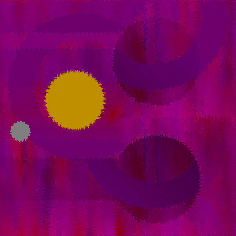 Abstract Digital Art - Be Happy by Ruth Palmer