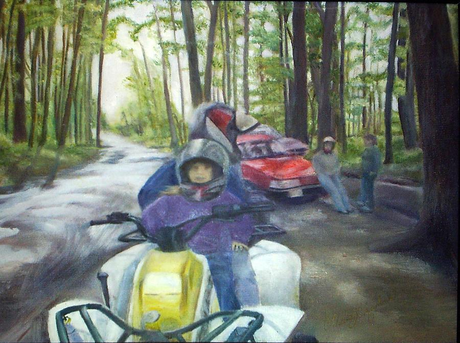 Quad Painting - Be Right Back by Sheila Mashaw