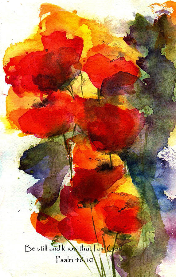 Watercolor Painting - Be Still And Know That I Am God by Anne Duke