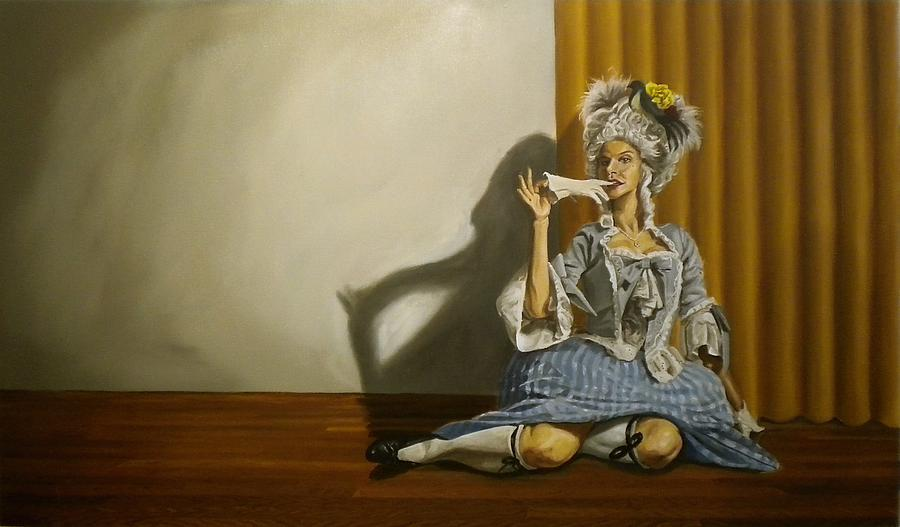 Burlesque Painting - Bea B Heart by Kenneth Browne
