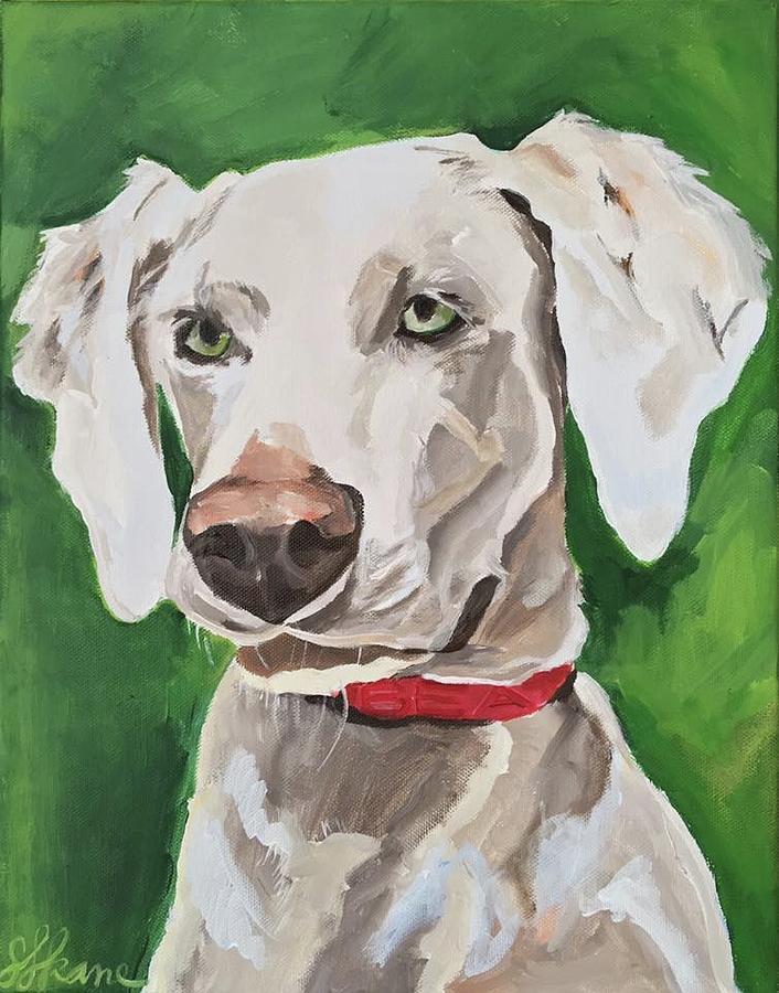 Dog Portrait Painting - Bea by Sarah LaRose Kane