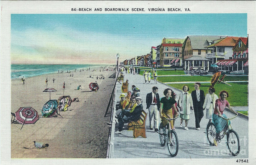 b1dc1a231 Beach And Boardwalk Vintage Virginia Beach Digital Art by Melissa ...