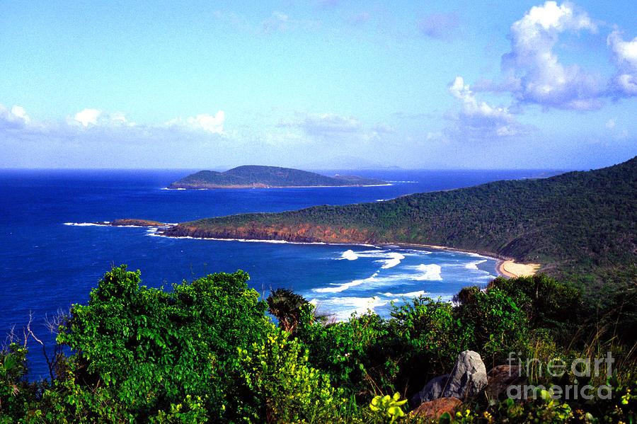Culebra Photograph - Beach And Cayo Norte From Mount Resaca by Thomas R Fletcher