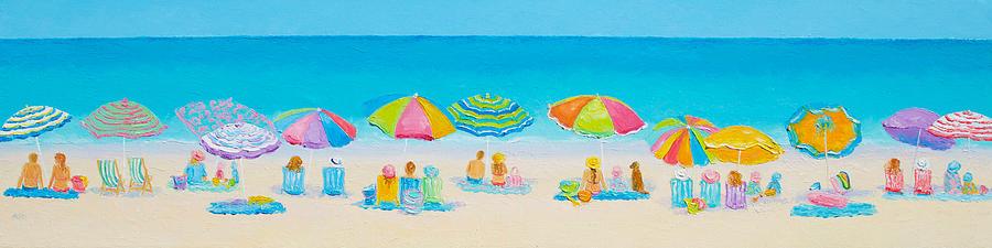 Beach Painting - Beach Art - Crazy Lazy Summer Days by Jan Matson