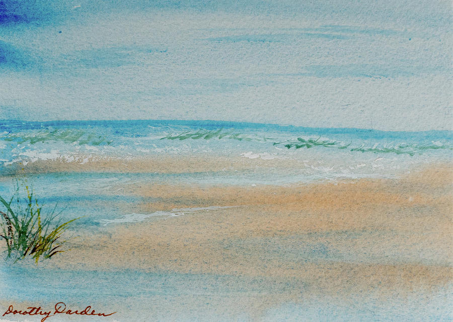 Beach at High Tide by Dorothy Darden